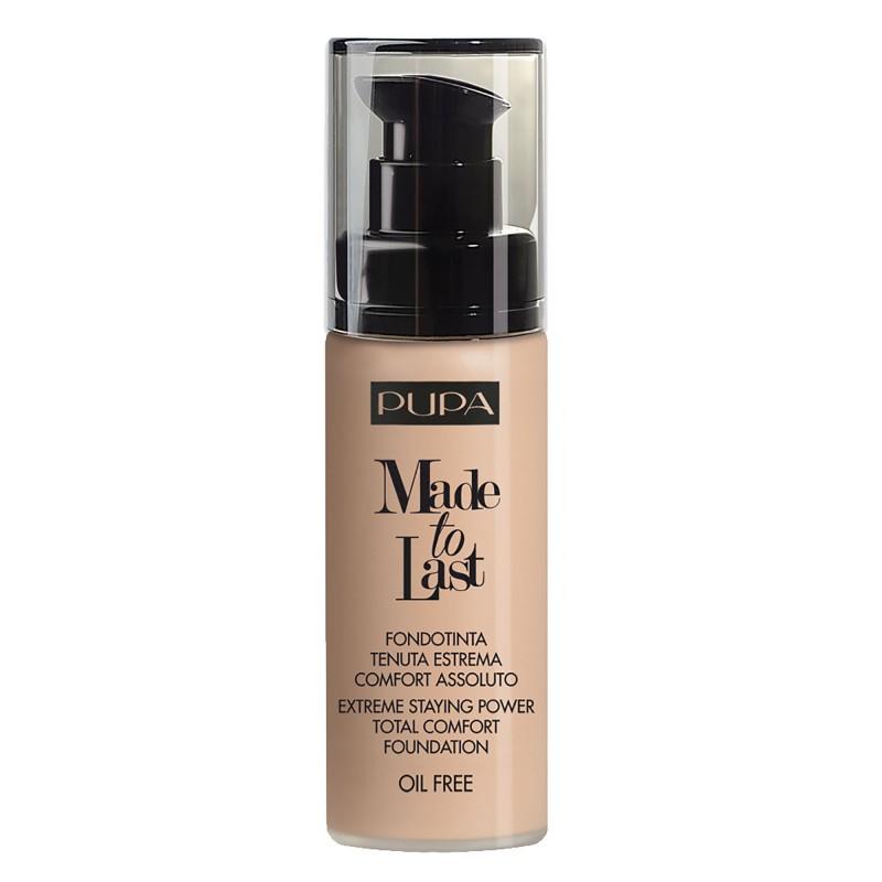 pupa foundation made to last cosmetics-kosmetik shop leicht beige
